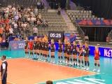Volleyballer beim Länderspiel in Stuttgart